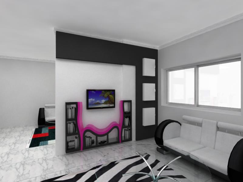 Gypsum-board-walls-inspiration-for-living-room